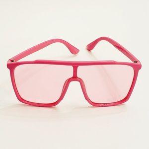 Unisex oversized Pink Sunglasses